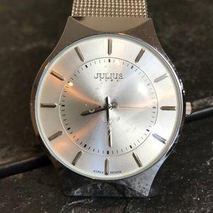 Julius Unisex Stainless Ultra Thin Quartz Watch